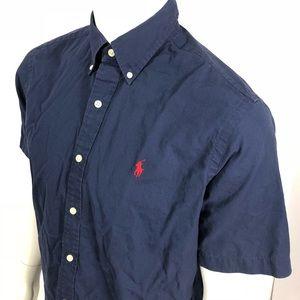 Ralph Lauren Mens Blue Size M Button Down Shirt